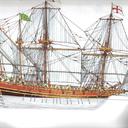 English oared galleon 1586