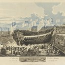 H.M.S._Thunderer_84_guns,_launched_at_Woolwich_on_Septr_22_1831