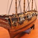 Angielski okręt żaglowy z XVIII wieku HMS BOUNTY